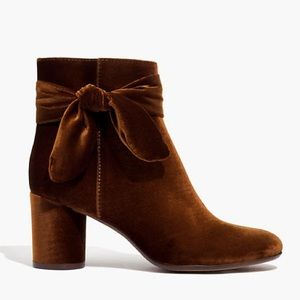 NWT Madewell The Esme Bow Boot in Burnished Cedar